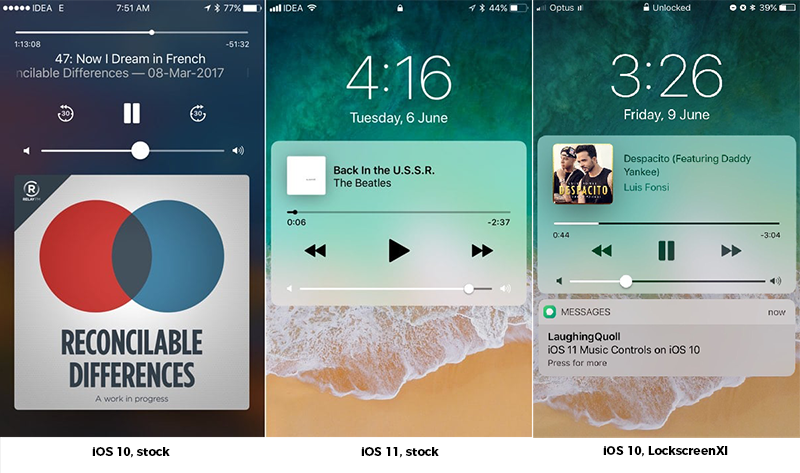 iPhone Yelp-ios-10-vs-ios-11-now-playing-lock-screen.png