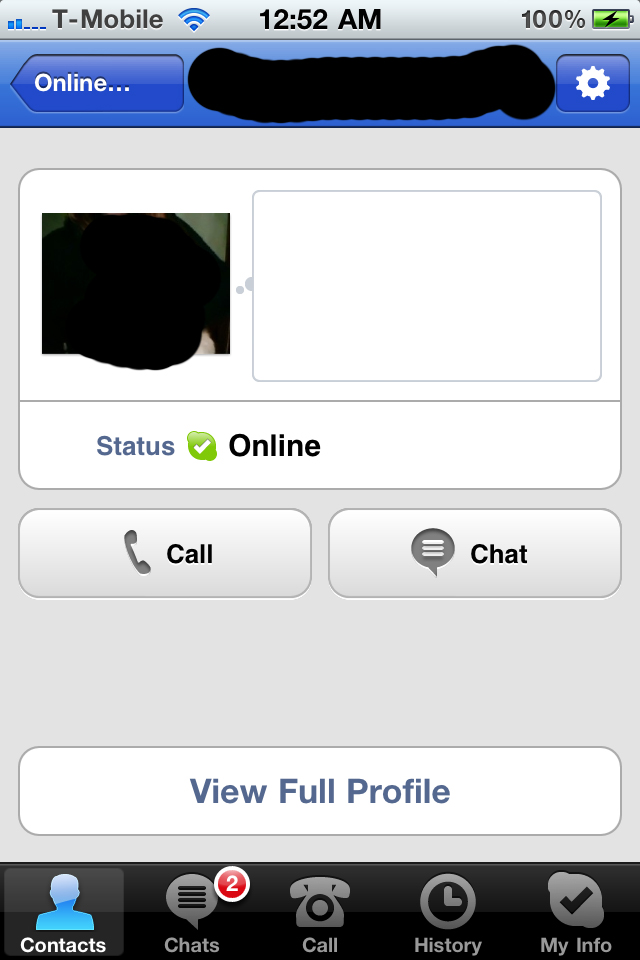 how to video call on skype iphone