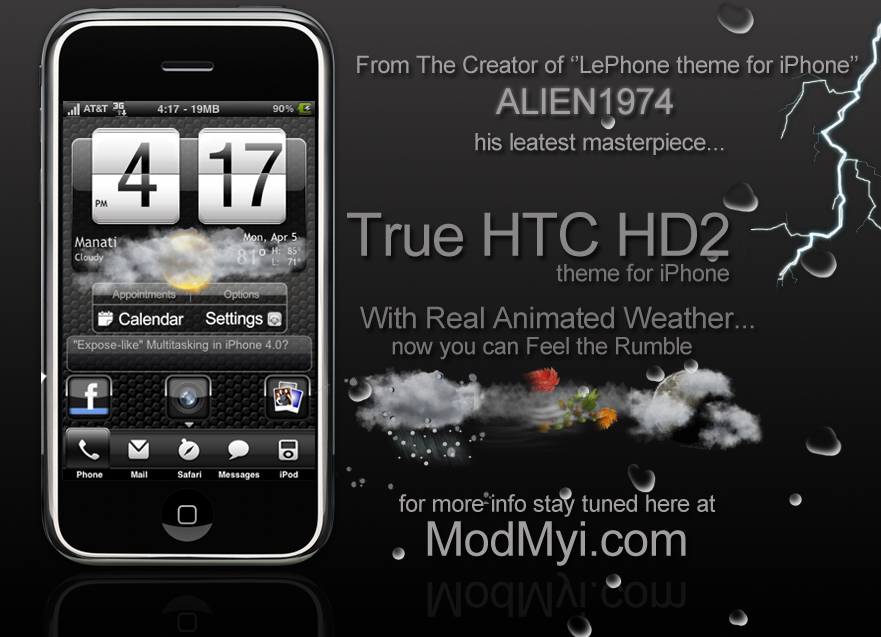 Preview True Htc Hd2 With Real Animated Weather Modmyforums