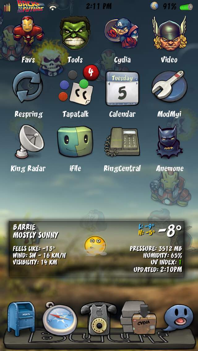 Buuf Is Juiced In To Ios9 Anemone And Winterboard Page