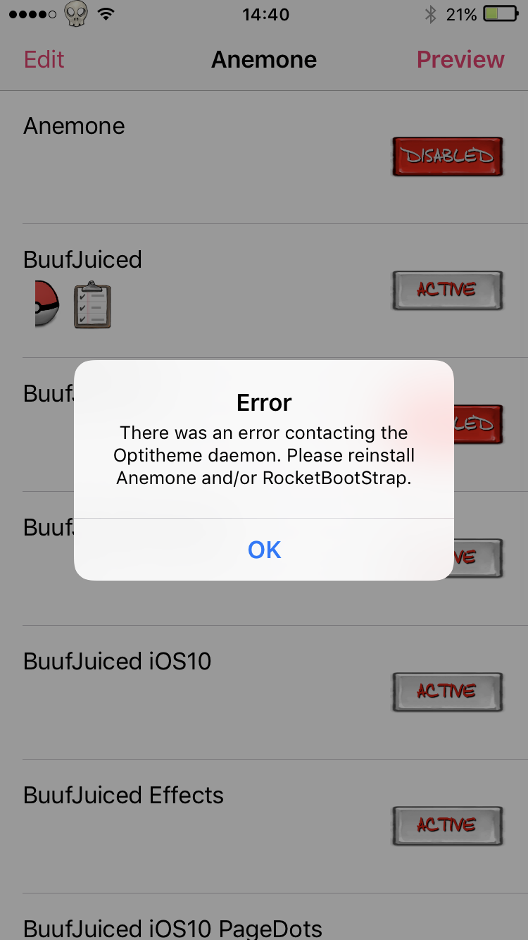 Buuf is juiced in to IOS9 (Anemone and Winterboard) - Page